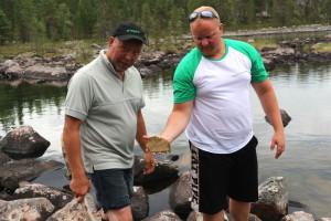 Vainosjoen osavaluma-alueella havaittiin runsas piileväesiintymä.