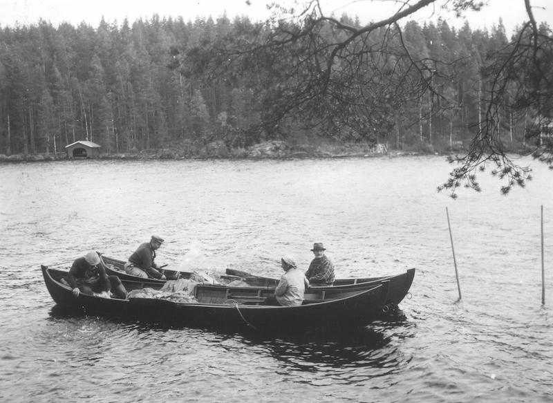 Kesänuotalle lähdössä Pirkanmaalla, 1900-luku.